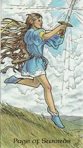 Resultado de imagem para page of tarot swords